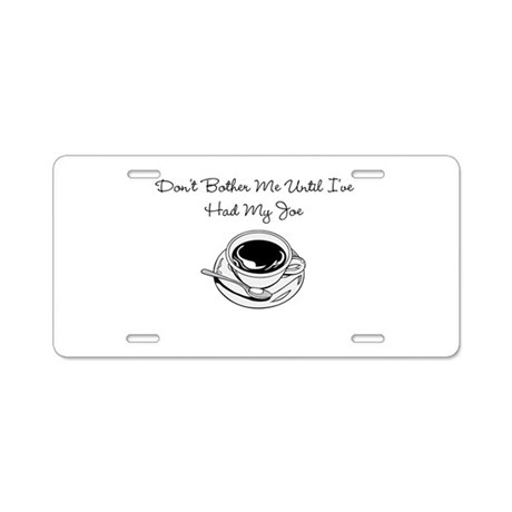 Cup O' Joe Aluminum License Plate