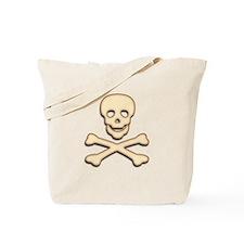 Bone Skull & Crossbones Tote Bag