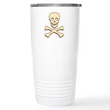 Bone Skull & Crossbones Travel Mug