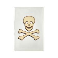 Bone Skull & Crossbones Rectangle Magnet