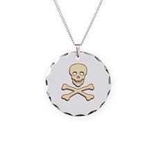 Bone Skull & Crossbones Necklace