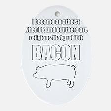 Prohibit bacon. Ornament (Oval)