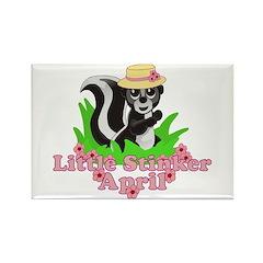 Little Stinker April Rectangle Magnet (10 pack)