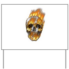 Fire skull Yard Sign