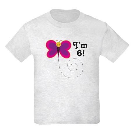 6th Birthday Girls Kids Light T-Shirt