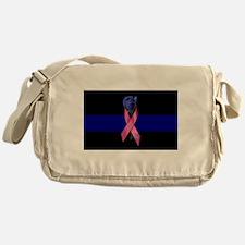 Blue Line Rose Messenger Bag