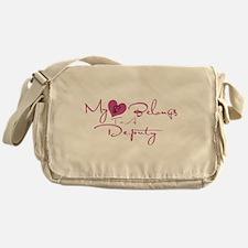 My Heart Blongs to a Deputy Messenger Bag