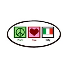 Peace Love Italy Patches