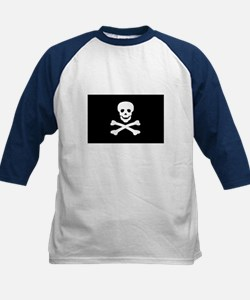 Black Pirate Flag Kids Baseball Jersey