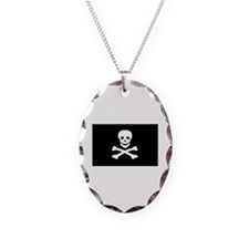 Black Pirate Flag Necklace