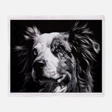 Dramatic Australian Shepherd Throw Blanket
