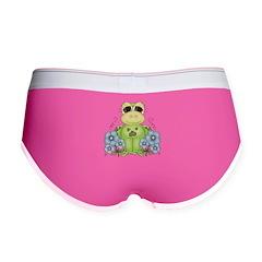 Fun Frog & Flowers Women's Boy Brief