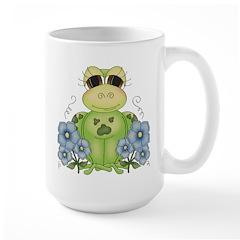 Fun Frog & Flowers Mug