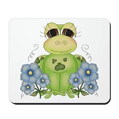 Fun Frog & Flowers Mousepad