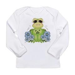 Fun Frog & Flowers Long Sleeve Infant T-Shirt