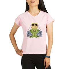 Fun Frog & Flowers Performance Dry T-Shirt