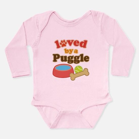 Puggle Dog Gift Long Sleeve Infant Bodysuit