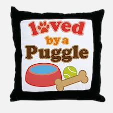 Puggle Dog Gift Throw Pillow