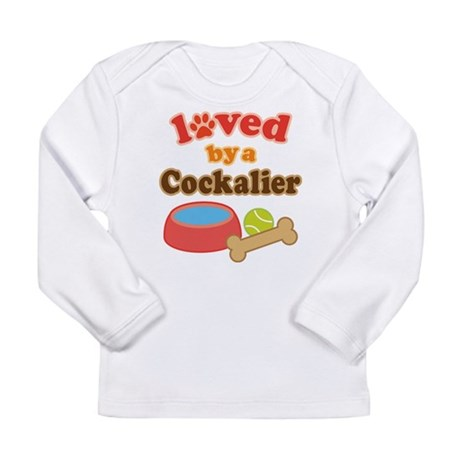 Cockalier Dog Gift Long Sleeve Infant T-Shirt
