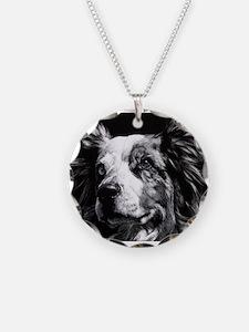 Dramatic Aust. Shepherd Necklace