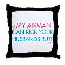 Cute Pink camo Throw Pillow