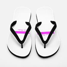 Pink Line with Ribbon Flip Flops