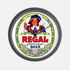 Louisiana Beer Label 1 Wall Clock