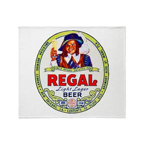 Louisiana Beer Label 1 Throw Blanket