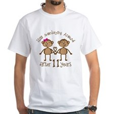 11th Anniversary Love Monkeys Gift Shirt
