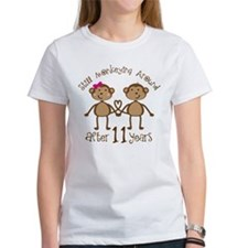 11th Anniversary Love Monkeys Gift Tee