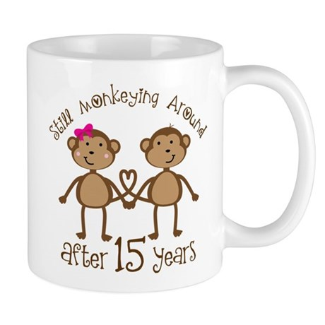 15th Anniversary Love Monkeys Mug