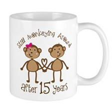 15th Anniversary Love Monkeys Small Mugs