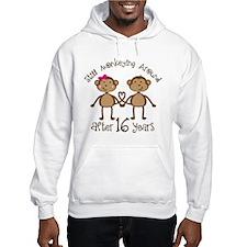 16th Anniversary Love Monkeys Gift Hoodie