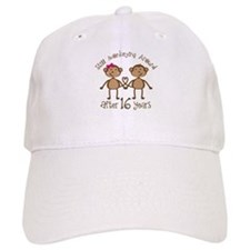 16th Anniversary Love Monkeys Gift Baseball Cap