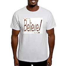 Believe! (Orange) Ash Grey T-Shirt