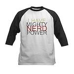 MIGHTY NERD POWER Kids Baseball Jersey