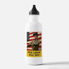 Free Labor Will Win Water Bottle