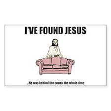 I've Found Jesus Funny T-Shir Sticker (Rectangular