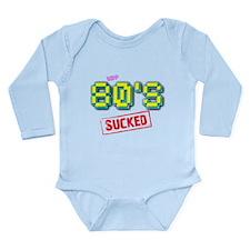 The 80's Sucked Pixel Design Long Sleeve Infant Bo