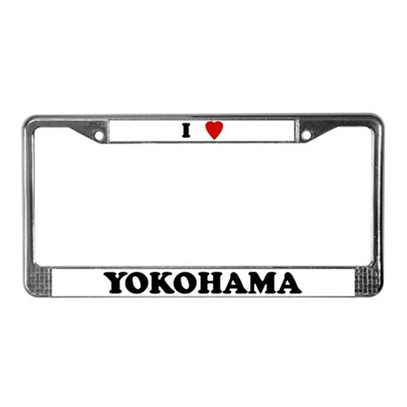 I Love Yokohama License Plate Frame