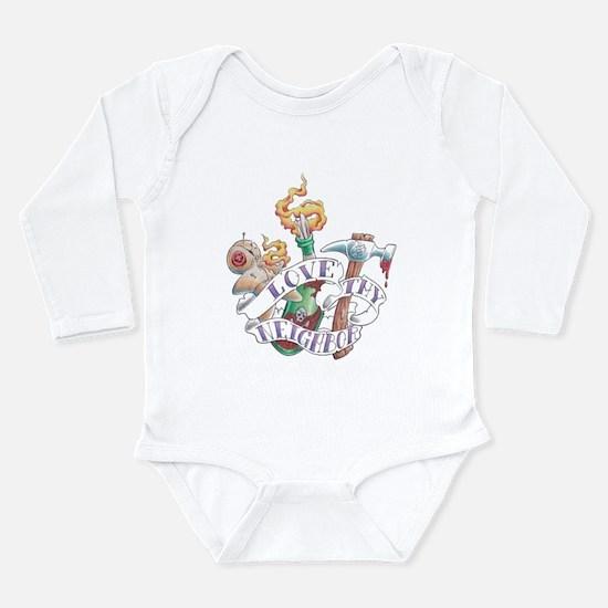 Love thy Neighbor Long Sleeve Infant Bodysuit