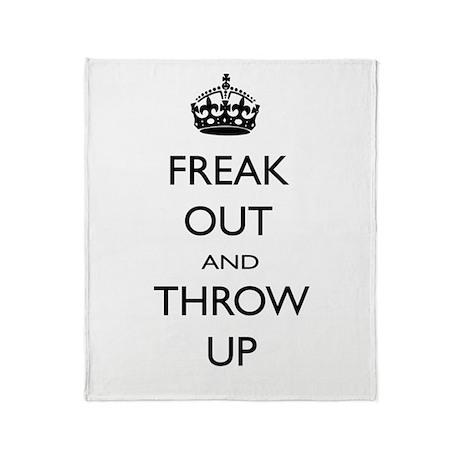 Freak Out Throw Blanket