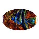 Angel Fish Sticker (Oval 50 pk)