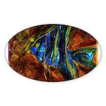 Angel Fish Sticker (Oval 10 pk)