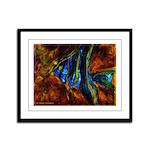 Angel Fish Framed Panel Print