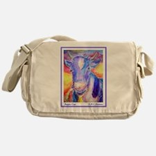 Cow! Purple cow art! Messenger Bag