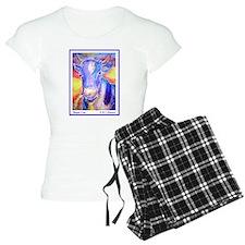 Cow! Purple cow art! Pajamas