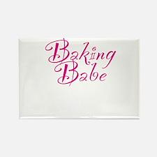 Baking Babe Rectangle Magnet