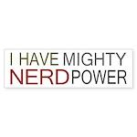 MIGHTY NERD POWER Sticker (Bumper 50 pk)