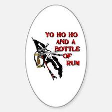 Yo Ho Ho Pirate Sticker (Oval)